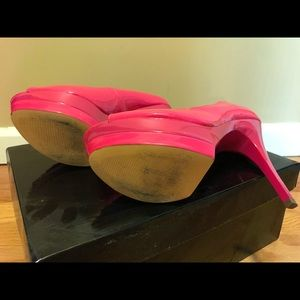 JustFab Shoes - Just Fabulous Hot Pink Platform Pumps